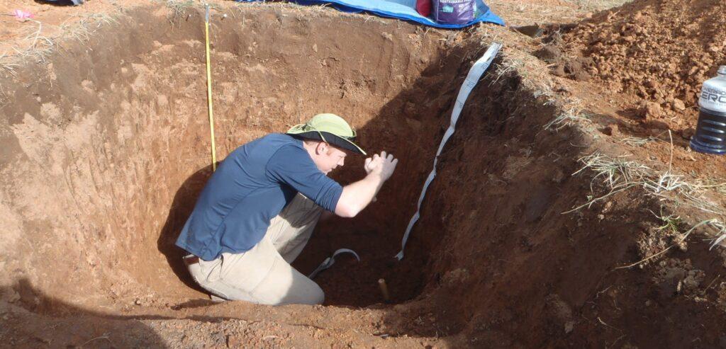 BGJ in soil pit